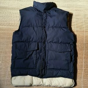 Land's End Blue Cotton Blend Vest. L